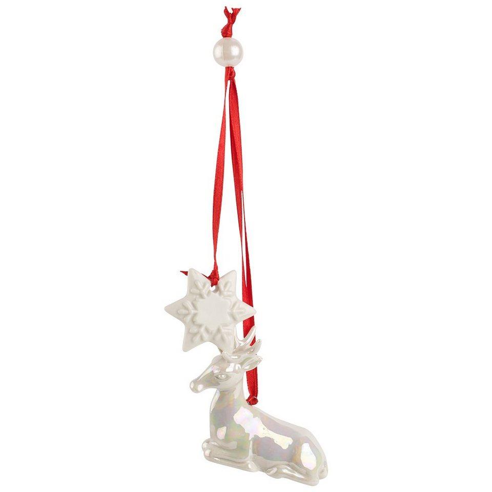 VILLEROY & BOCH Ornament Schneestern mit Hirsch 16c »NewModern Christmas« in Dekoriert