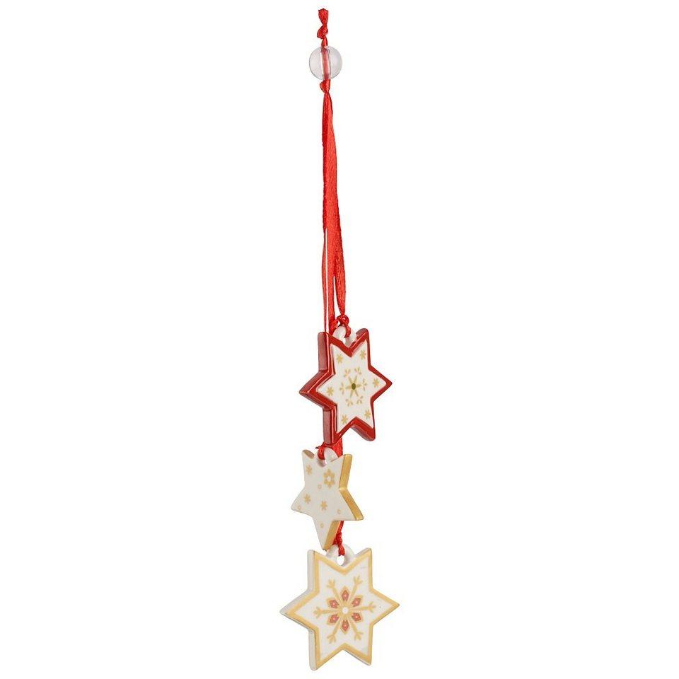 VILLEROY & BOCH Trio-Ornament Sterne 21cm »My Christmas Tree« in Dekoriert