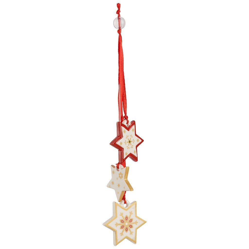 VILLEROY & BOCH Trio-Ornament Sterne 21cm »My Christmas Tree«