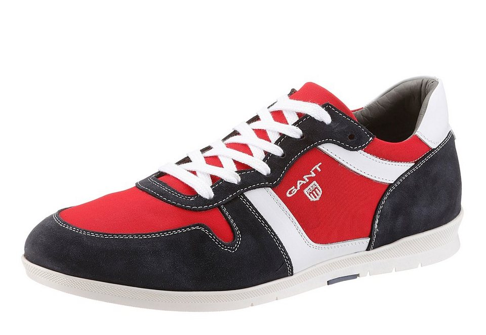 GANT Sneaker im Materialmix in navy/rot/weiß
