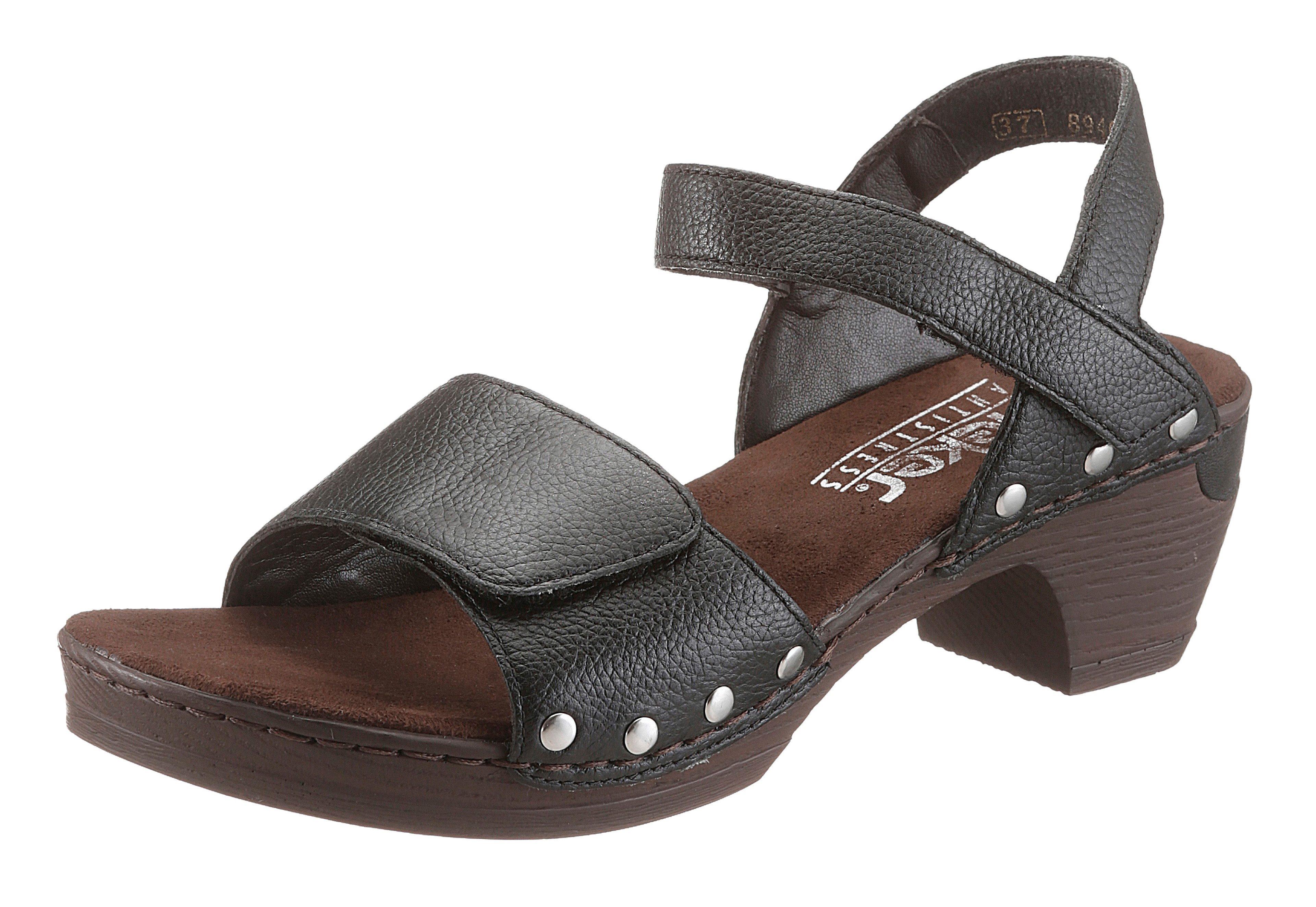 Rieker Sandalette mit glänzenden Nieten, Obermaterial aus Leder online kaufen | OTTO