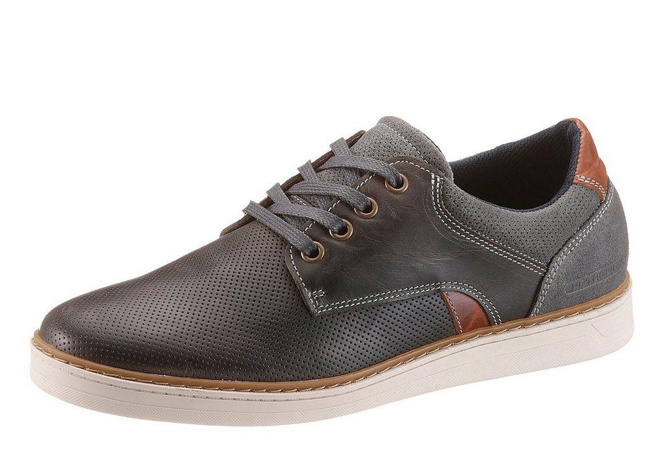 Petrolio Sneaker in grau-braun