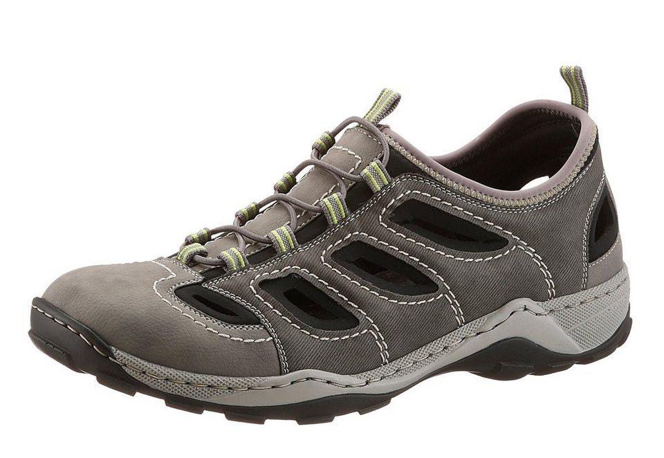 RIEKER Trekking Slipper im Jeans Look in grau used