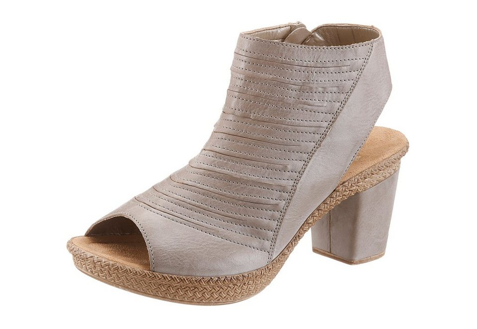 Rieker Schaftsandalette in taupe used