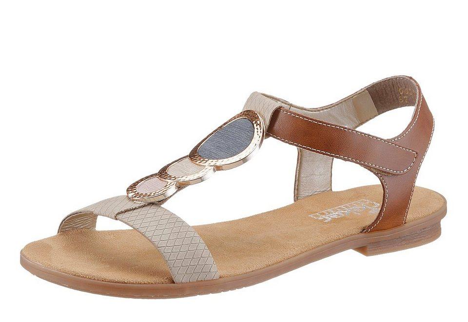Sandale, Rieker in creme-braun