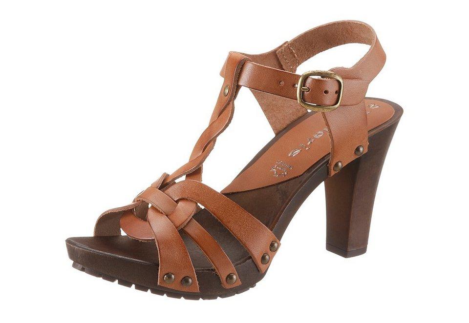 Tamaris High Heel Sandalette in nussfarben