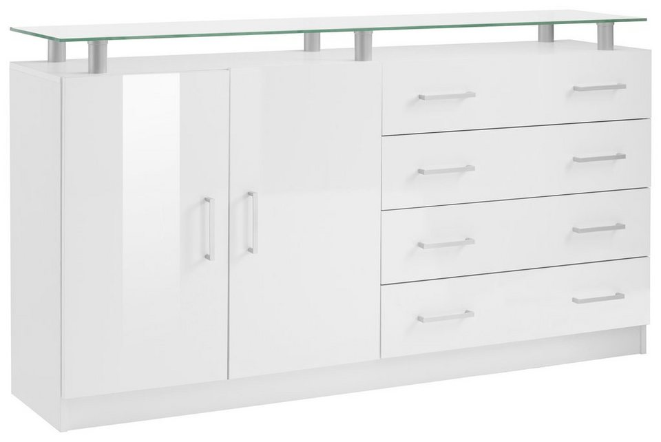 sideboard finn breite 152 cm mit glasablage otto. Black Bedroom Furniture Sets. Home Design Ideas