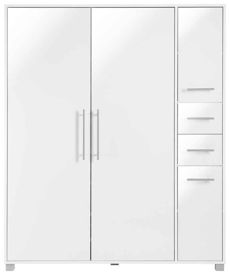 Schildmeyer Schuhschrank »Pisa« Breite 132 cm, mit Metallgriffen