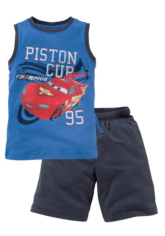 "Disney Cars Top & Bermudas ""PISTON CUP"" (Set, 2 tlg.) in royalblau-marine"