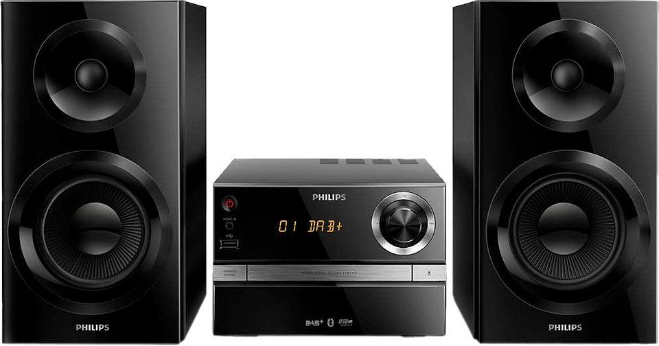 Philips BTB2370/12 Stereoanlage, Bluetooth, Digitalradio (DAB+), 1x USB in schwarz