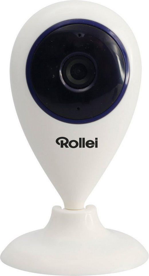 Rollei Mini 720p (HD-ready) Überwachungs-Kamera, WLAN in weiß
