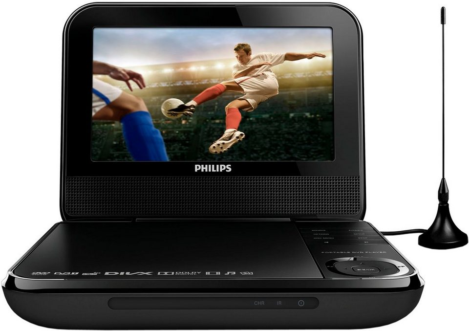 philips pd7025 12 portabler fernseher mit dvd player. Black Bedroom Furniture Sets. Home Design Ideas