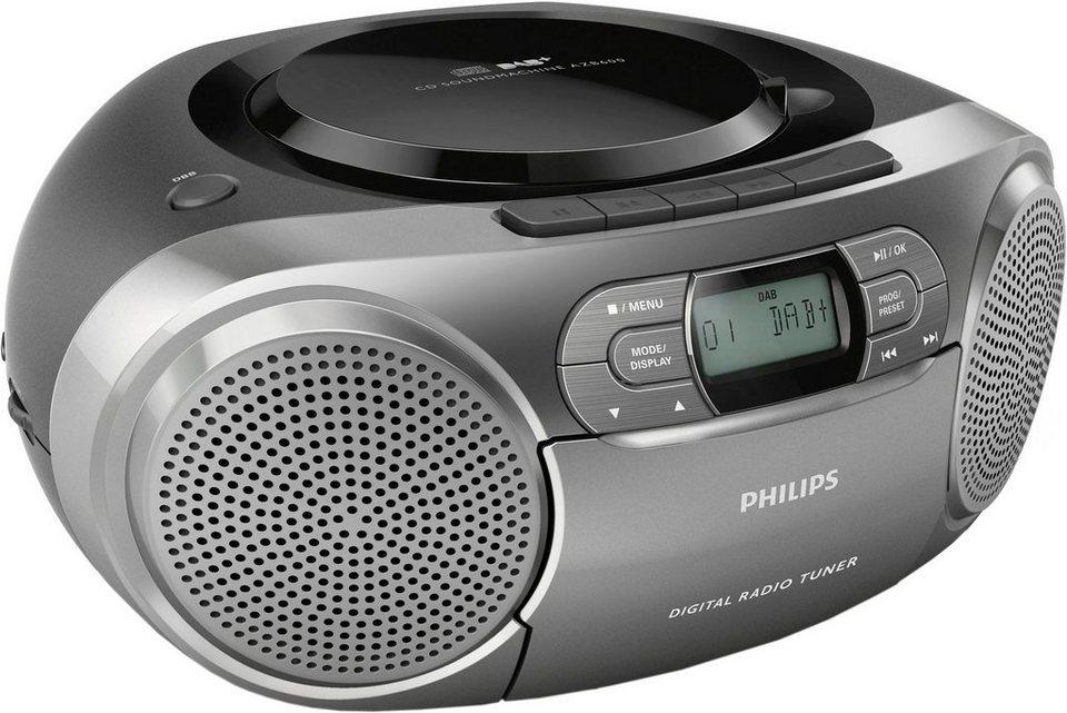 Philips AZB600/12 Stereoanlage, Digitalradio (DAB+), RDS in grau