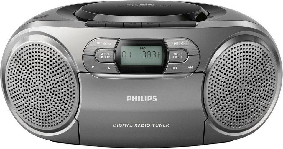 philips azb600 12 stereoanlage digitalradio dab rds. Black Bedroom Furniture Sets. Home Design Ideas