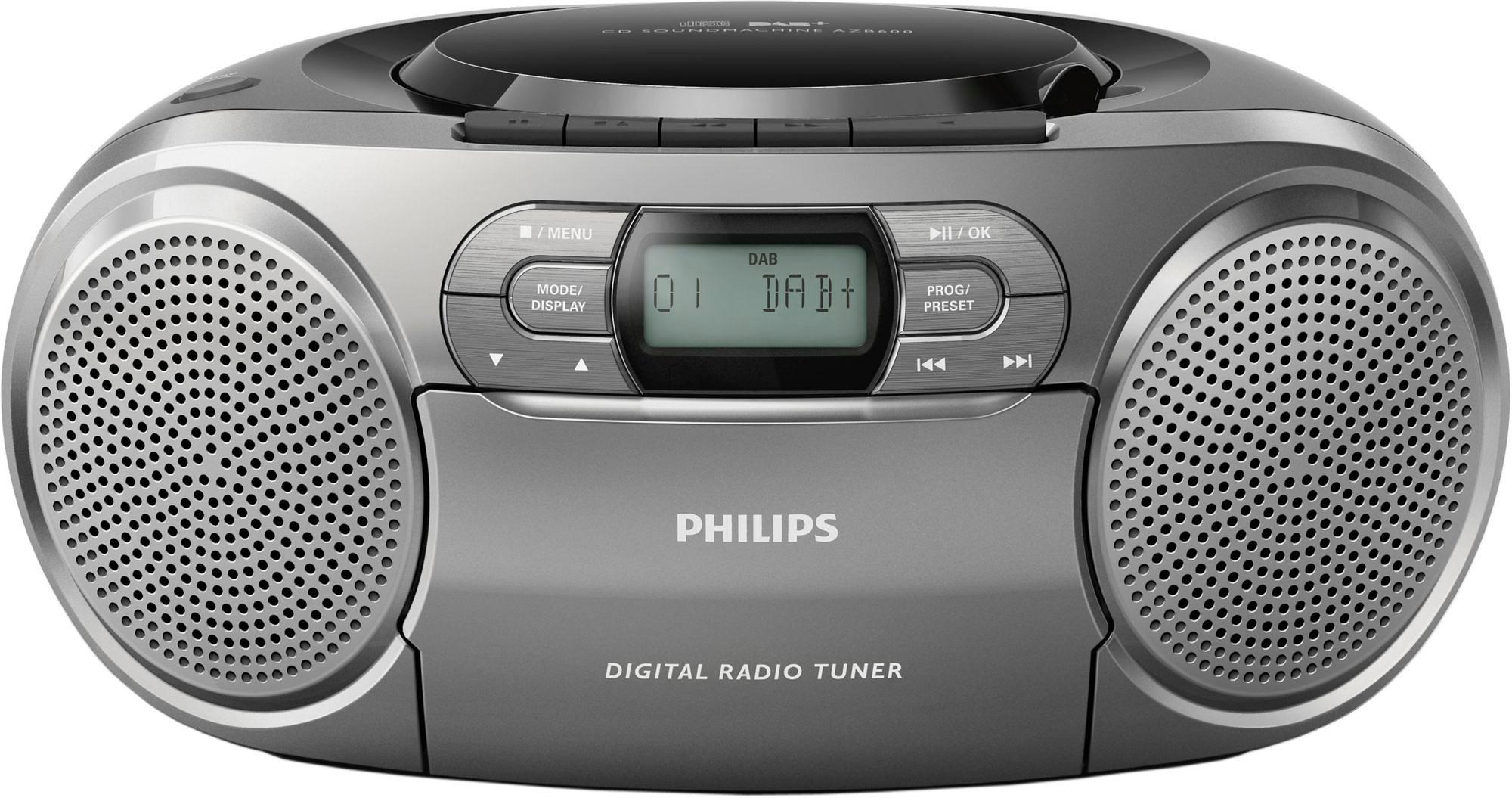 Philips AZB600/12 Stereoanlage, Digitalradio (DAB+), RDS