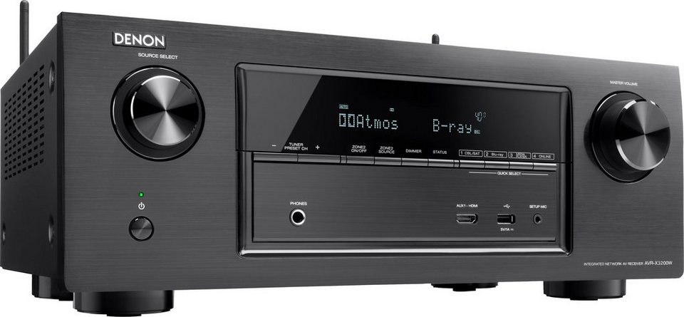 Denon AVR-X3200W 7.2 AV-Receiver (Hi-Res, 3D, Spotify, Airplay, WLAN, Bluetooth) in schwarz