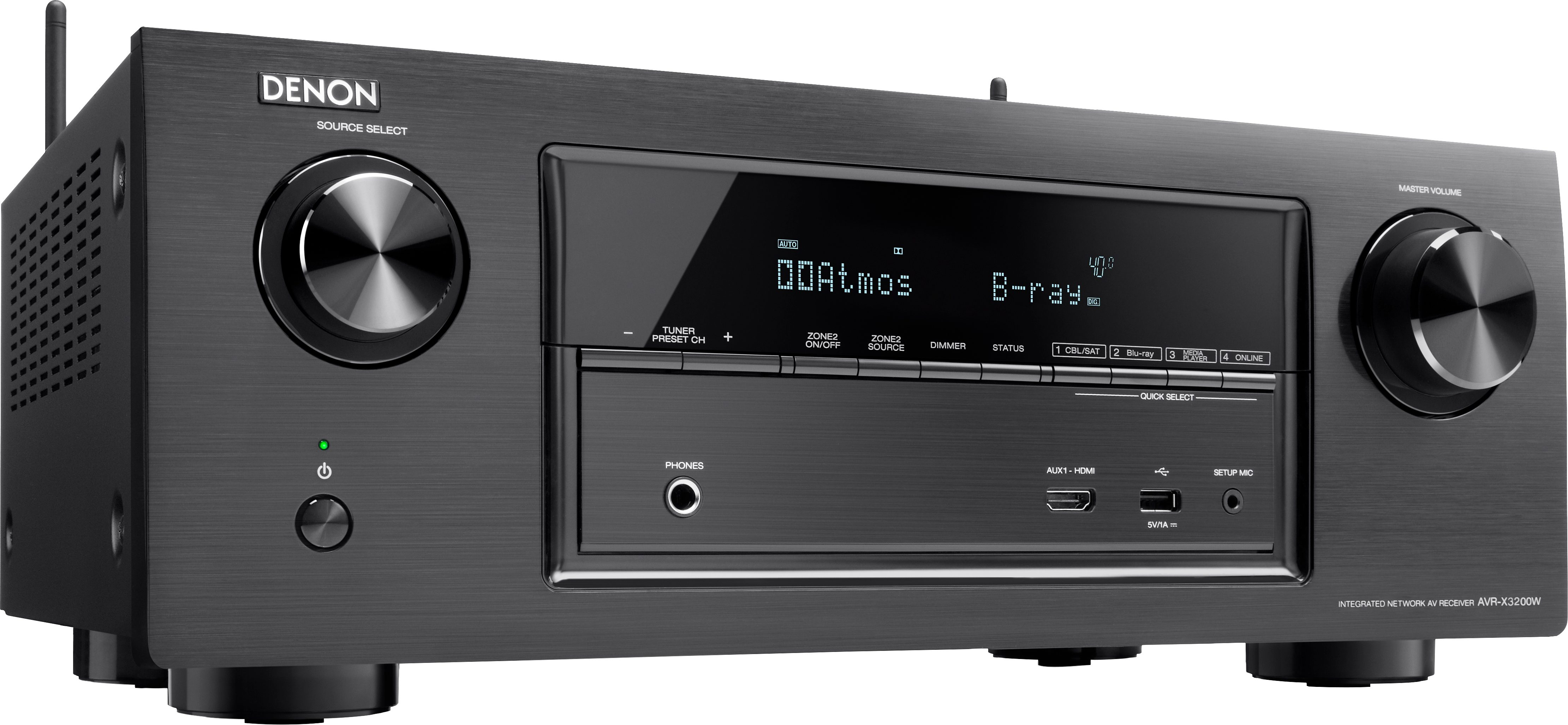 Denon AVR-X3200W 7.2 AV-Receiver (Hi-Res, 3D, Spotify, Airplay, WLAN, Bluetooth)