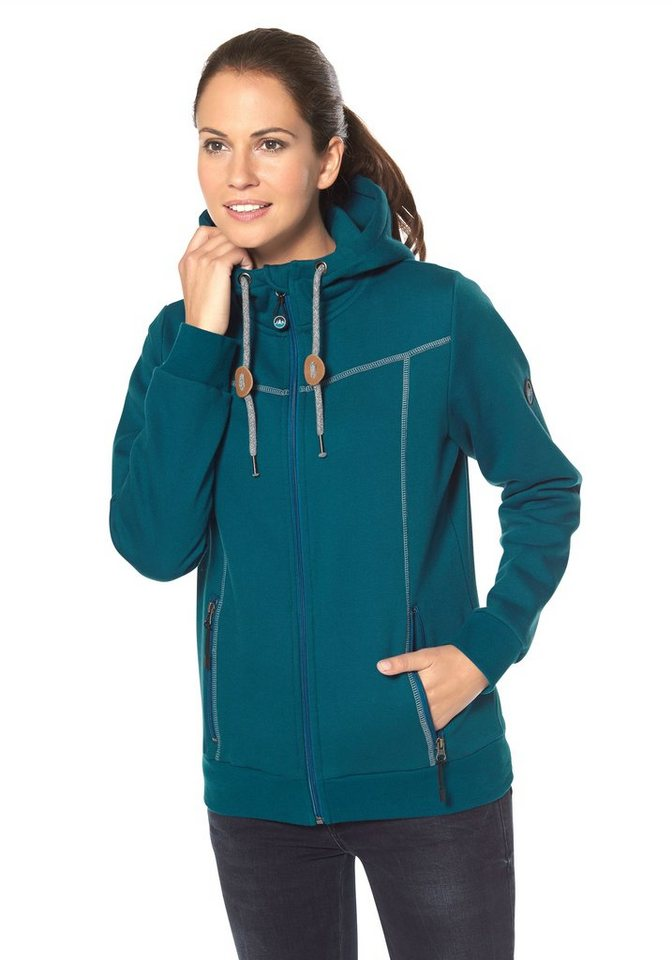 Polarino Sweatjacke in Petrol