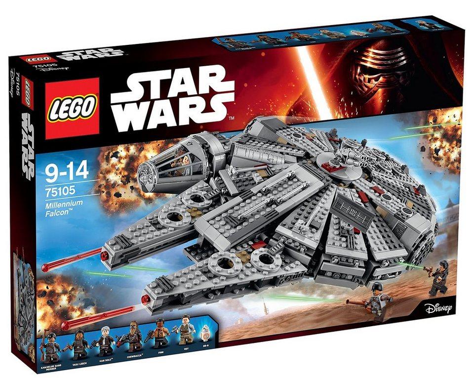 LEGO® Raumschiff (75105), »Star Wars™ Millennium Falcon™«