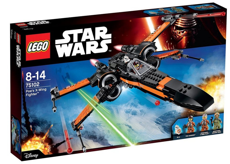 LEGO®, Kampfjet-Spielzeug-Set (75102), »Star Wars™ Poe's X-Wing Fighter™«