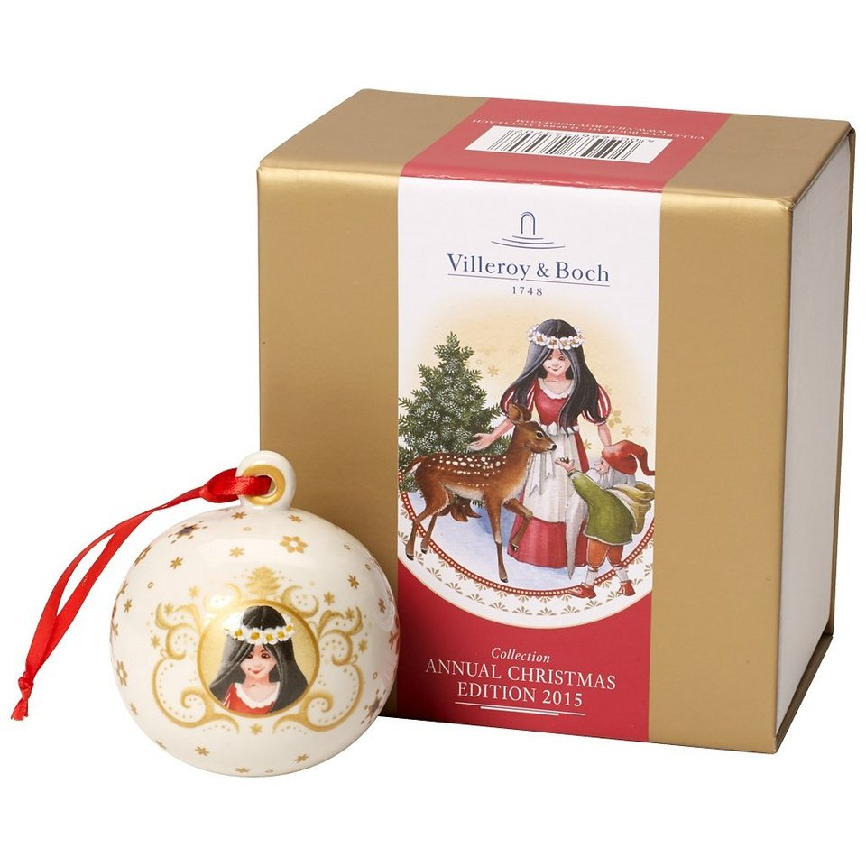 VILLEROY & BOCH Kugel 2015, Schneewittchen 7cm »Annual Christmas Edition« in Dekoriert