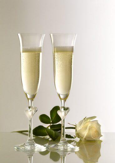 Stölzle Sektglas »L'Amour« (2-tlg), Kristallglas