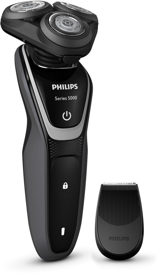 Philips, Rasierer Series, 5000 S5110/06, inklusive Präzisionstrimmer, Akku, LED