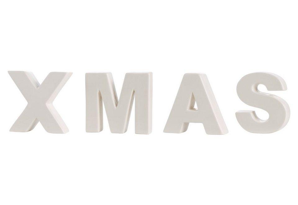 Buchstaben-Set, »XMAS« in weiß