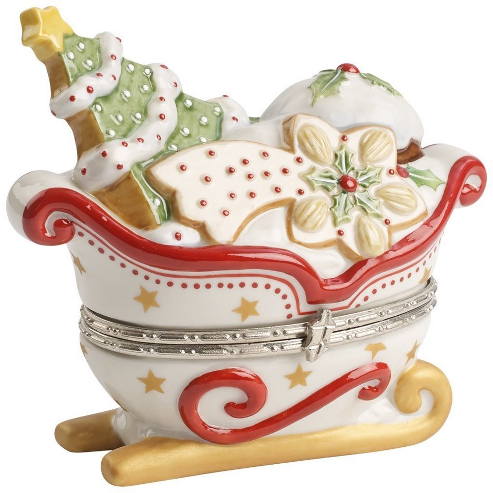 VILLEROY & BOCH Treat Schlitten weiß 9cm »Winter Bakery Decoration« in Dekoriert