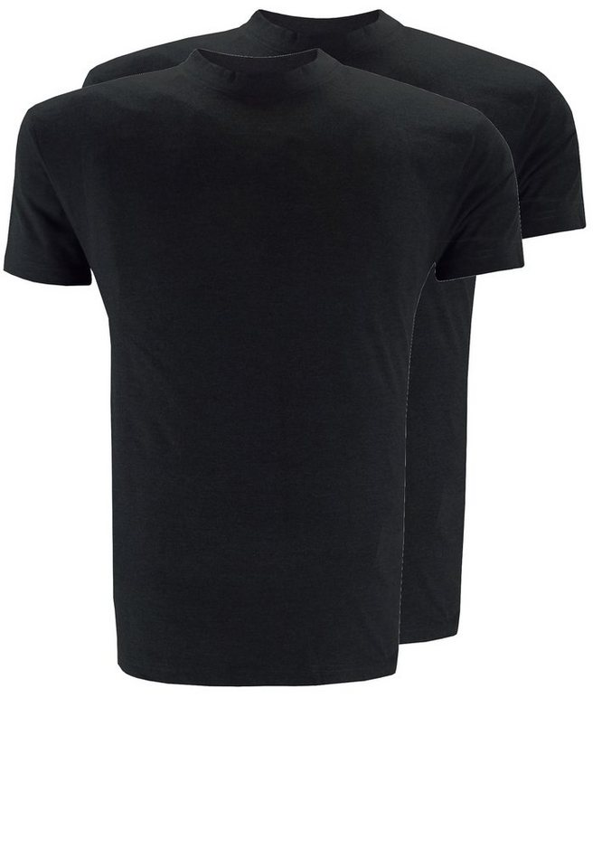 replika T-Shirt Doppelpack in Schwarz