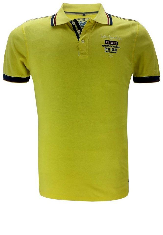 twinlife Poloshirt in Gelb
