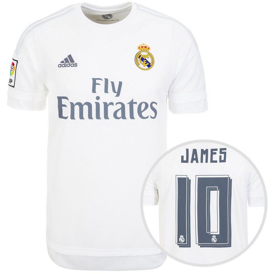 adidas Performance Real Madrid Trikot Home James 2015/2016 Herren in weiß / hellgrau