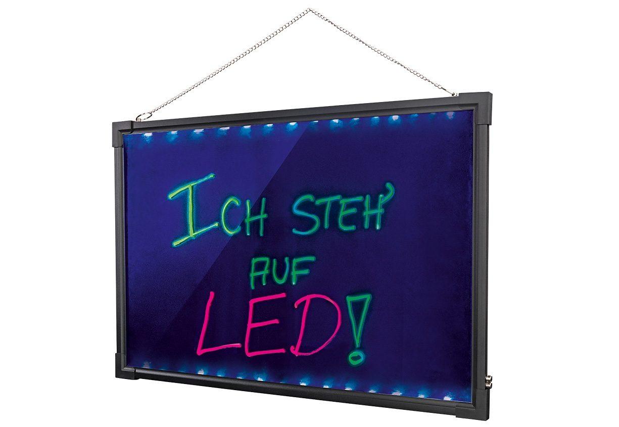 easymaxx LED Schreibtafel mit Farbwechsel