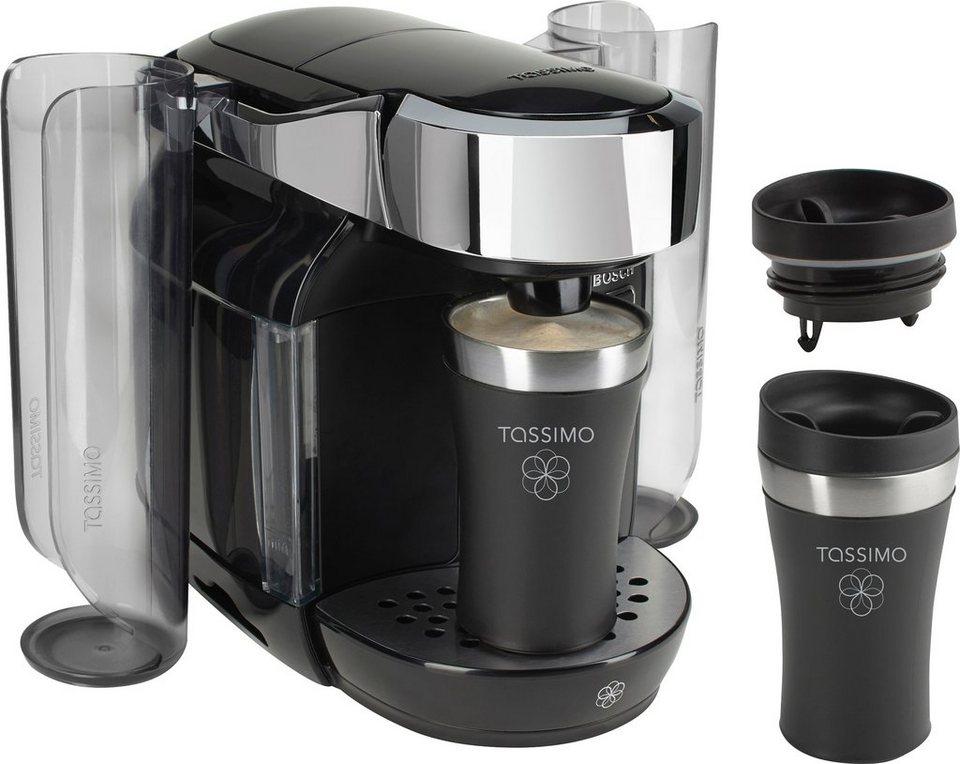 Bosch/Tassimo CADDY Multigetränkesystem TAS7002DE1, inkl 2 Travel Mugs im Wert von 20€ UVP in Mystical Black