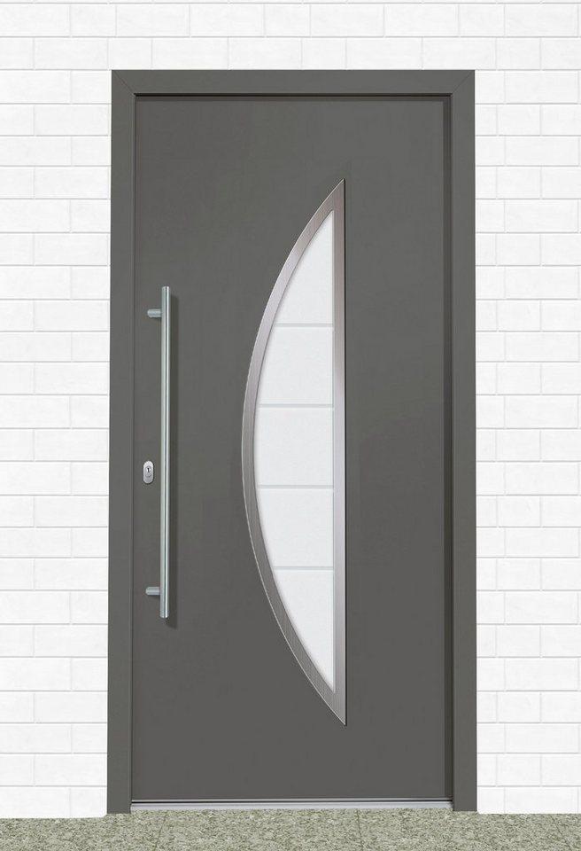 Kunststoff-Haustür »A909« BxH: 110 x 210 cm, anthrazit/weiß in anthrazit