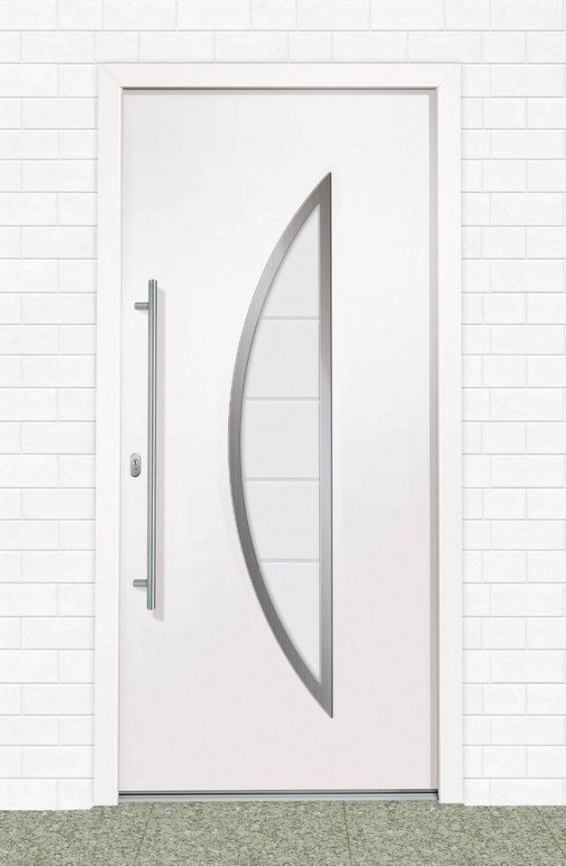 Kunststoff-Haustür »A909« BxH: 100 x 200 cm, weiß in weiß