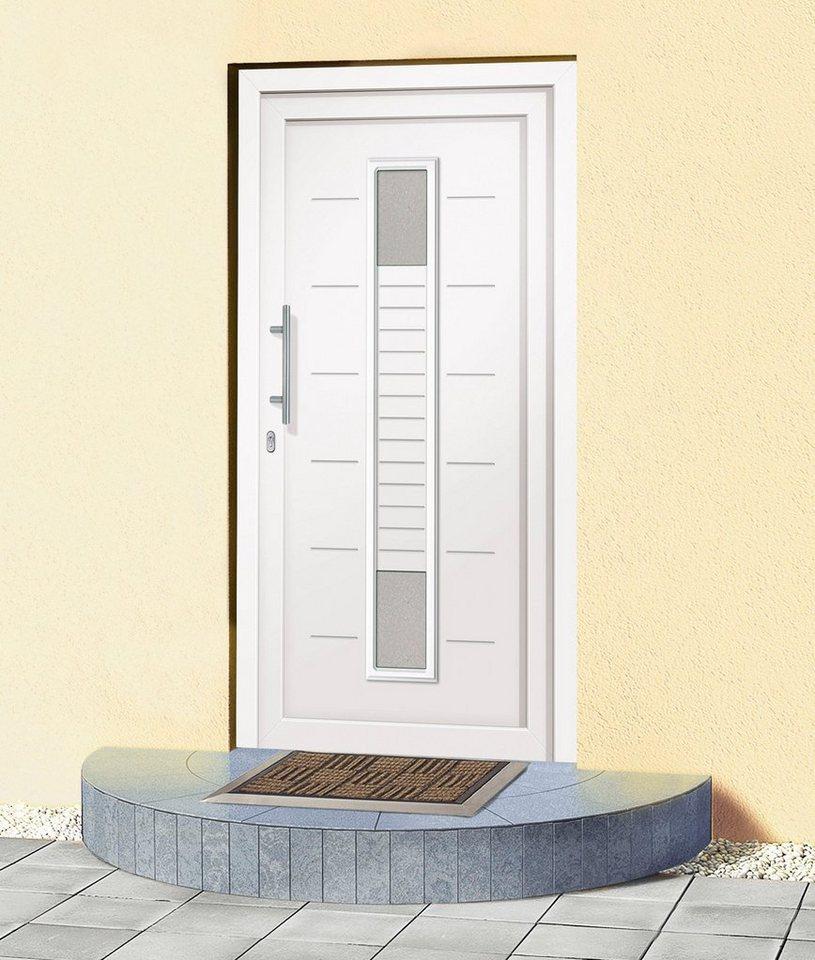 Kunststoff-Haustür »A906« BxH: 110 x 210 cm, weiß in weiß