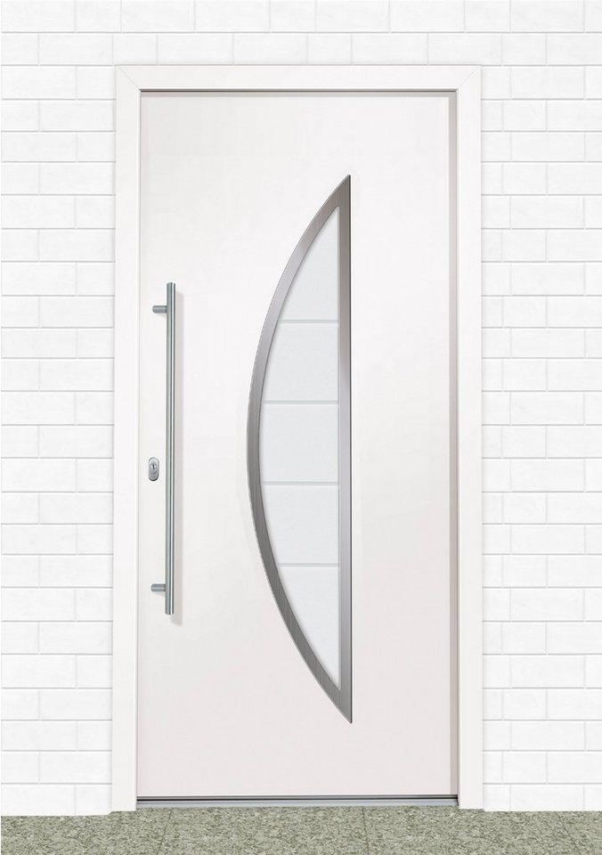 Kunststoff-Haustür »A909« BxH: 100 x 210 cm, weiß in weiß