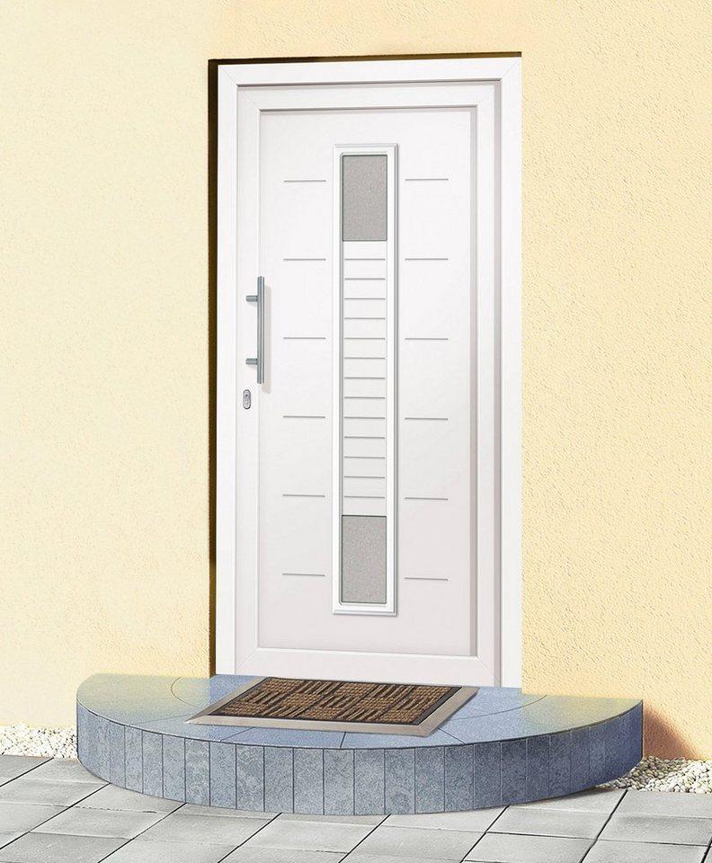 Kunststoff-Haustür »A906« BxH: 100 x 200 cm, weiß in weiß