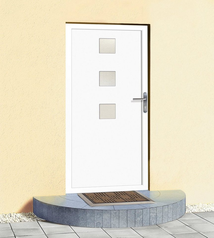 Mehrzweck-Haustür »Claudia« BxH: 100 x 210 cm, weiß in weiß