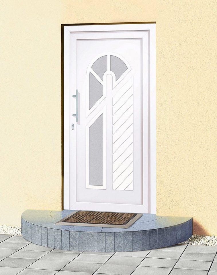 Kunststoff-Haustür »Japan« Tür nach Maß, weiß in weiß