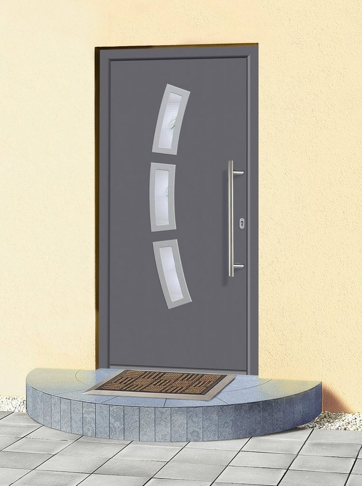 Aluminium-Haustür »A07« Festmaß BxH: 108 x 208 cm, anthrazit in anthrazit