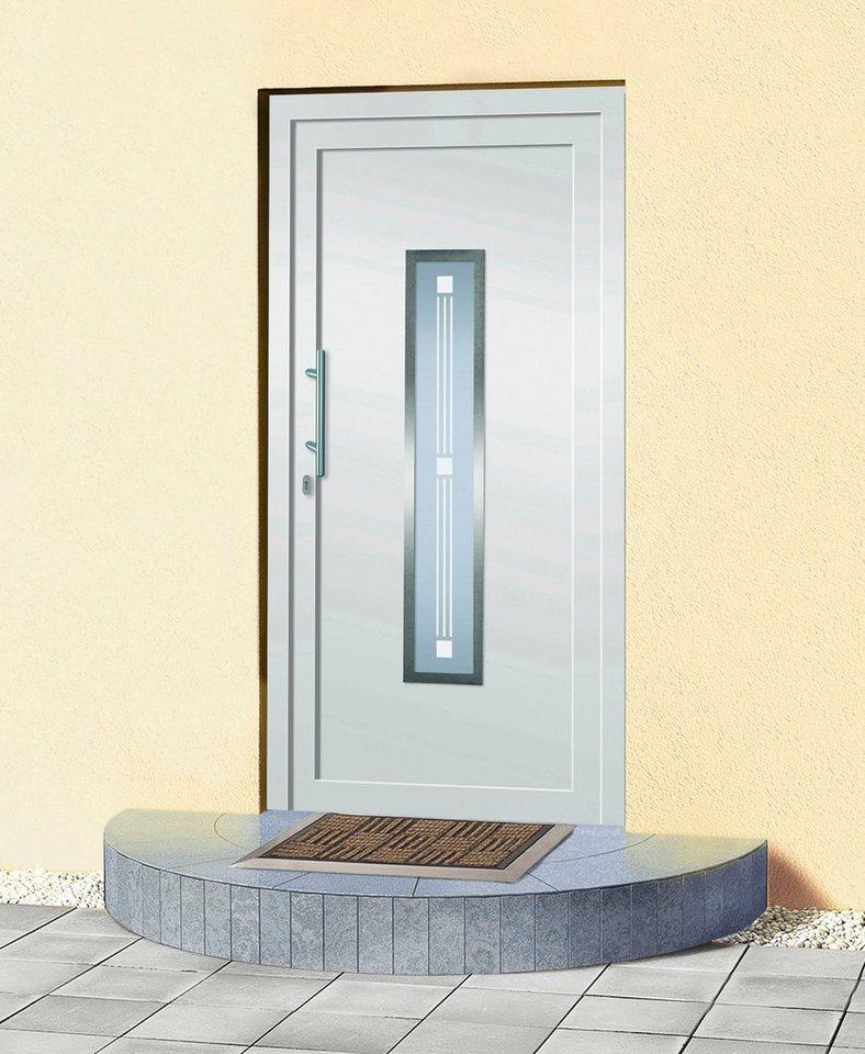 Kunststoff-Haustür »A905« BxH: 100 x 210 cm, weiß in weiß