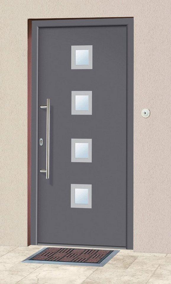 Aluminium-Haustür »A05« Festmaß BxH: 98 x 208 cm, anthrazit in anthrazit