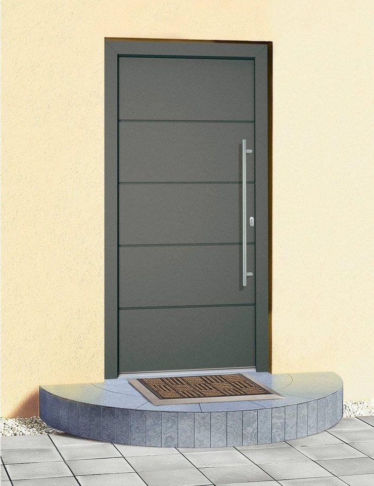 Aluminium-Haustür »Schweiz« BxH: 110 x 210 cm, anthrazit in anthrazit