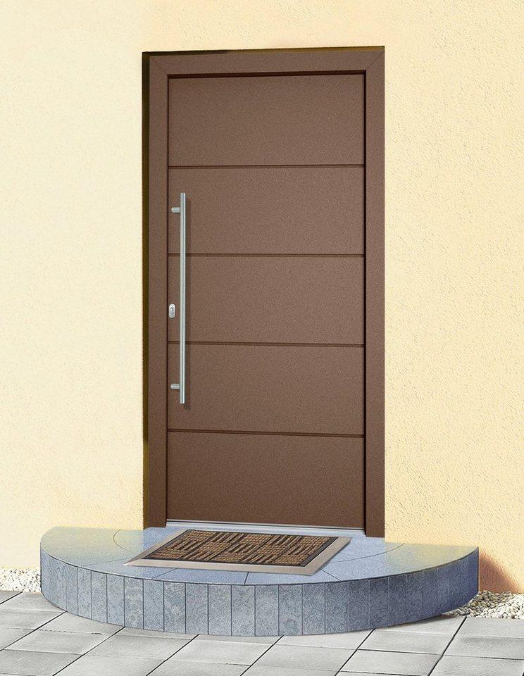 Aluminium-Haustür »Schweiz« Tür nach Maß, braun in braun