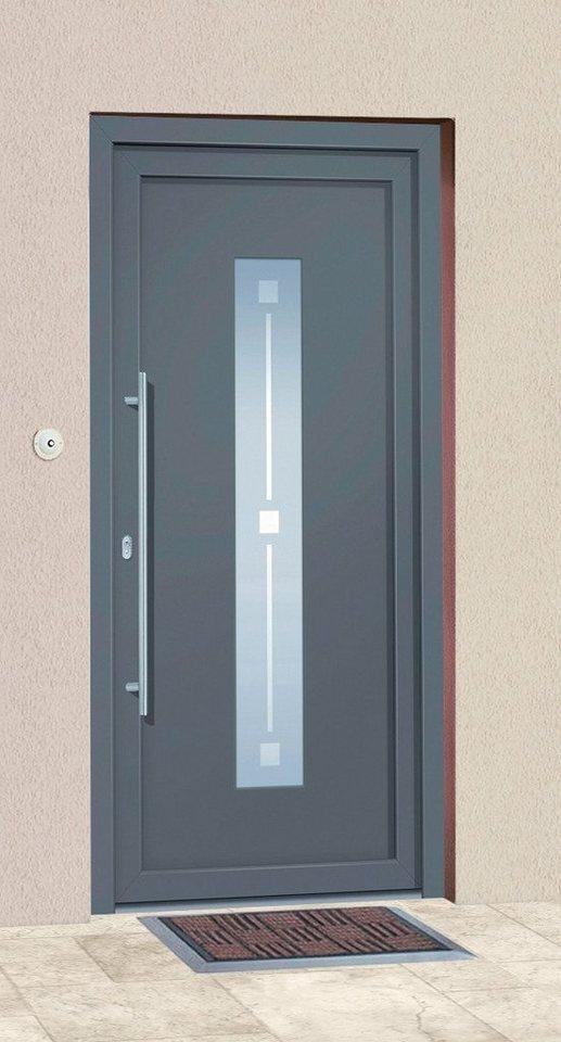Aluminium-Haustür »Andorra« BxH: 110 x 210 cm, anthrazit in anthrazit