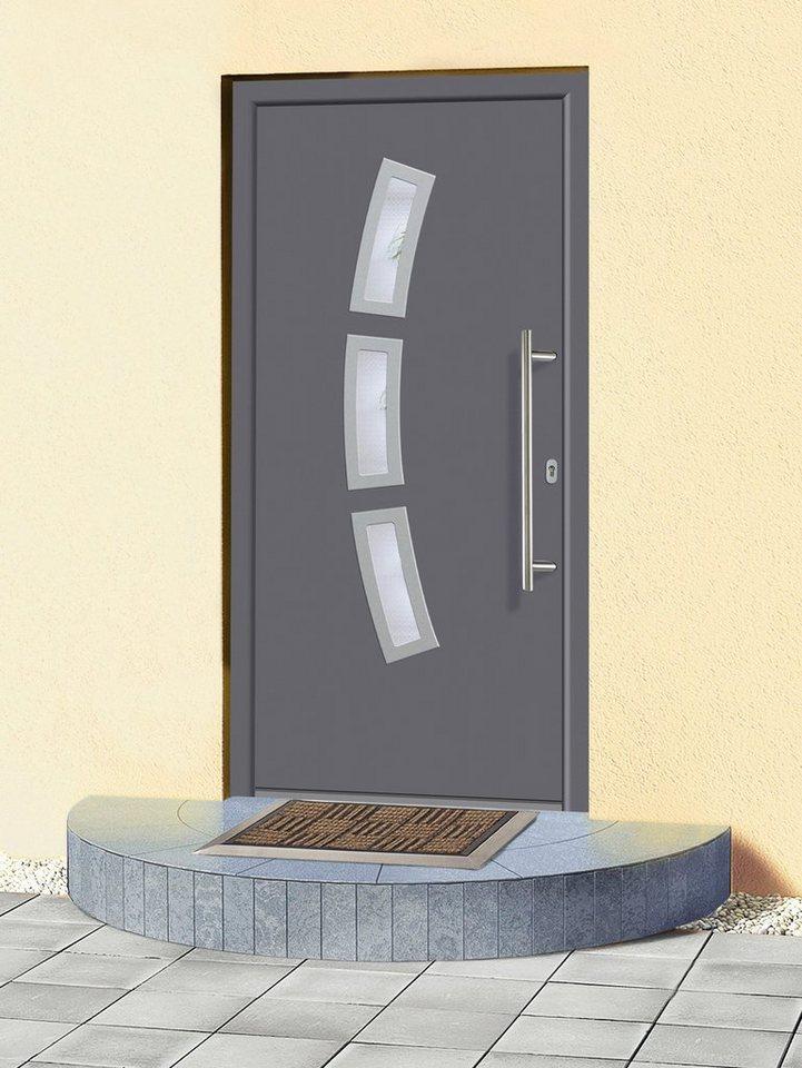 Aluminium-Haustür »A07« Festmaß BxH: 98 x 208 cm, anthrazit in anthrazit