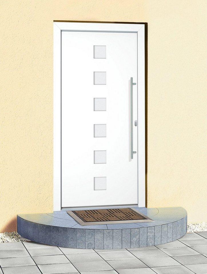 Aluminium-Haustür »Italien« BxH: 110 x 210 cm, weiß in weiß