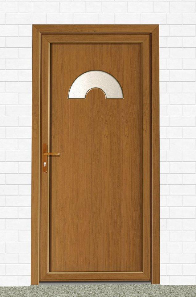 Mehrzweck-Haustür »Laura« BxH: 100 x 210 cm, eichefarben-dunkel in eichefarben-dunkel